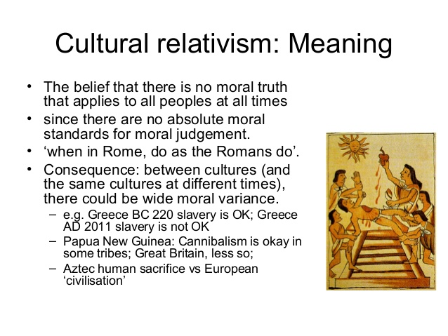 cultural relativism vs ethnocentism which Cultural relativism vs moral relativism there is only a subtle difference between cultural relativism and moral relativism, making it difficulty to understand the.
